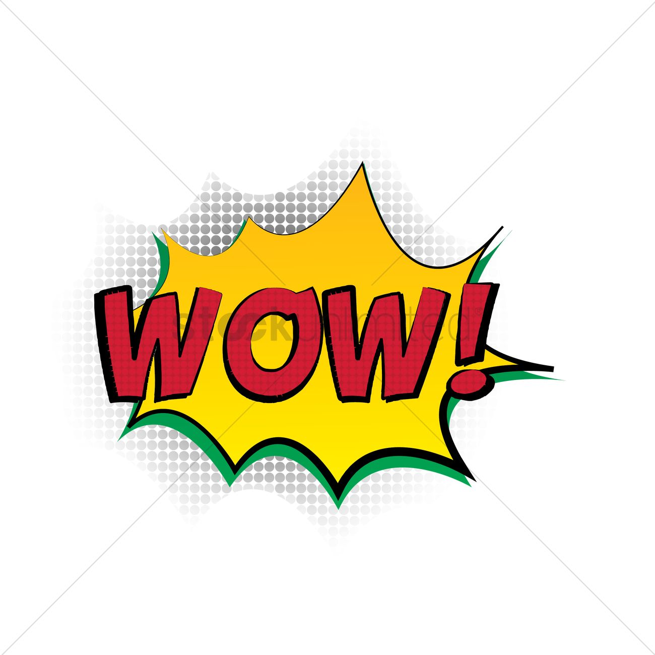Wow You Re Amazing: Comic Bubble Wow Vector Image - 1609016