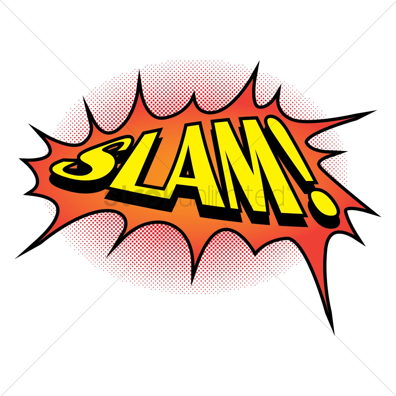 comic effect slam vector image 1708408 stockunlimited