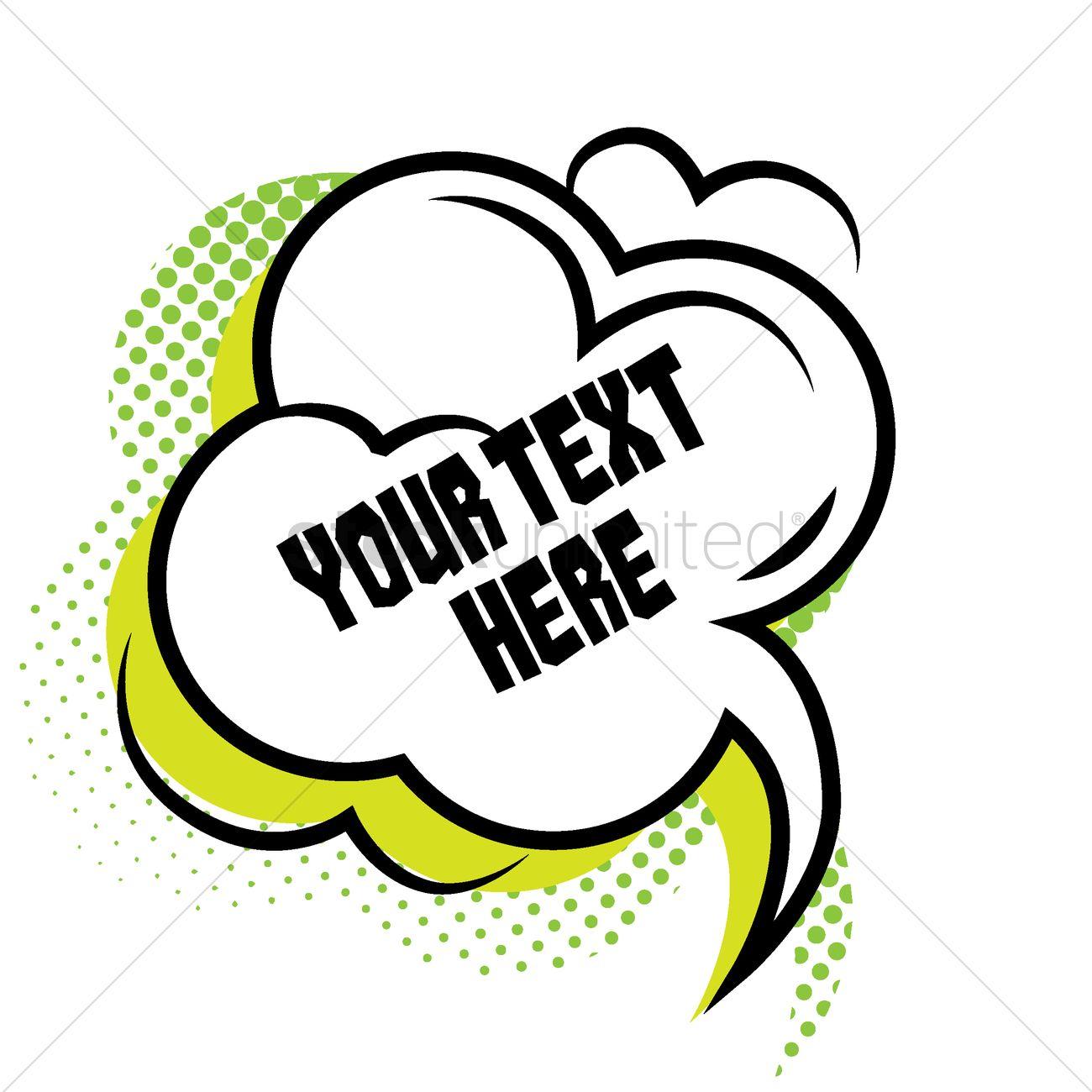 comic effect speech bubble template vector image 1708648