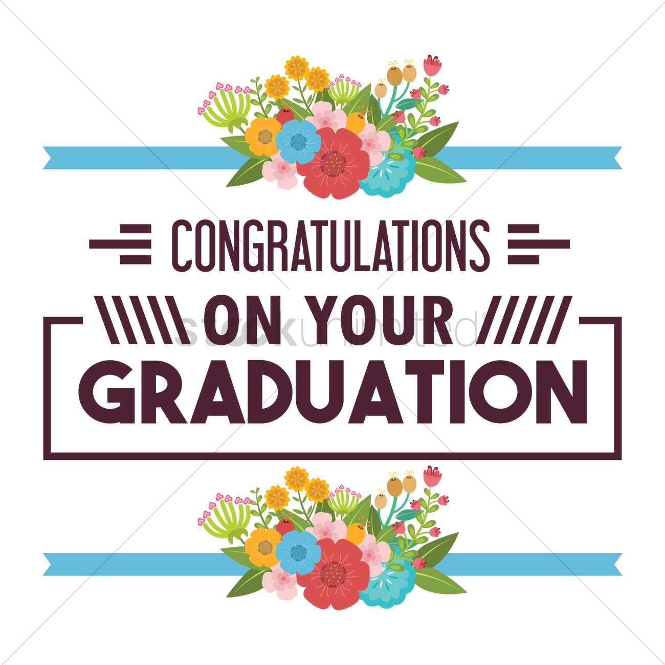 Congratulations On Your Graduation Vector Image