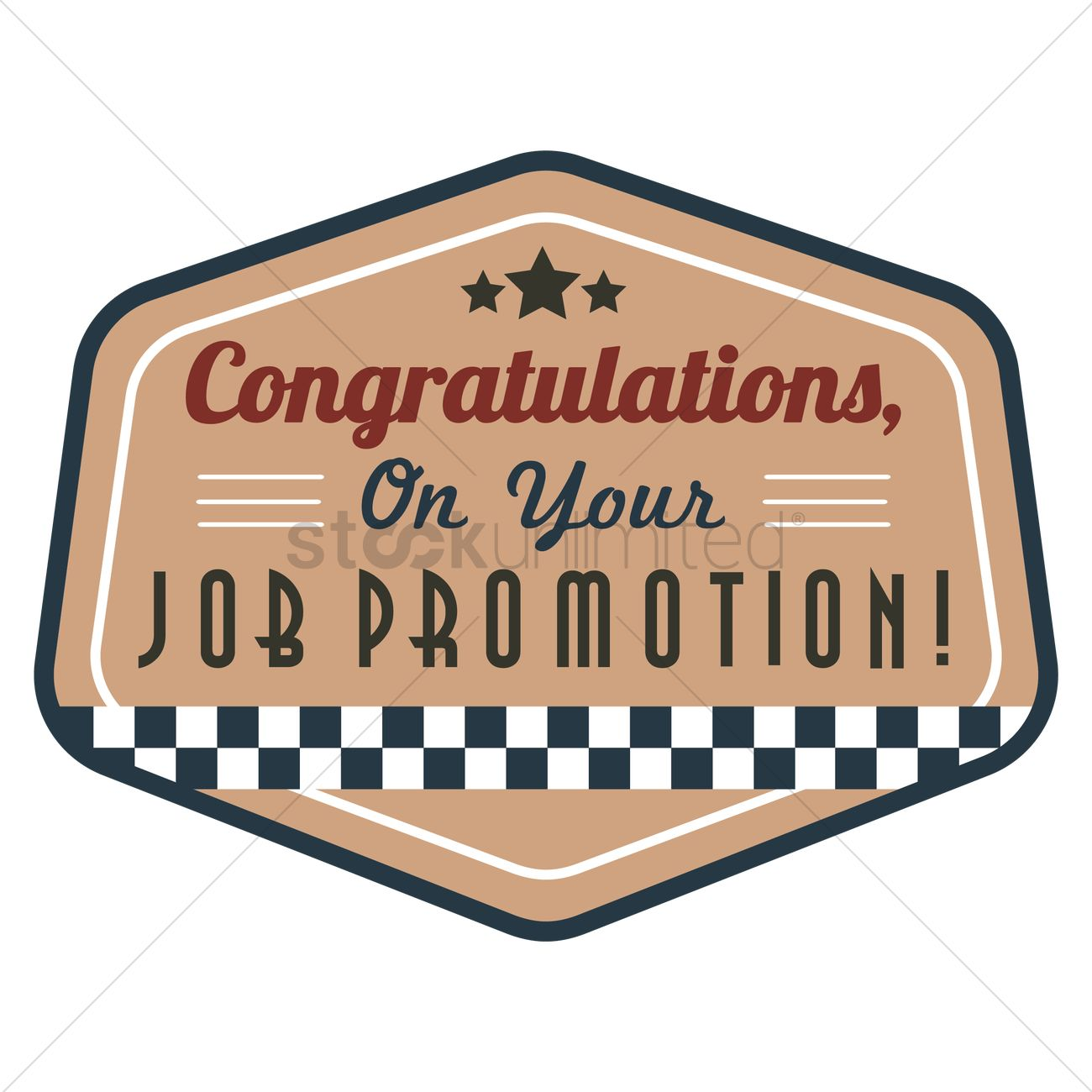 congratulations on your job promotion vector graphic