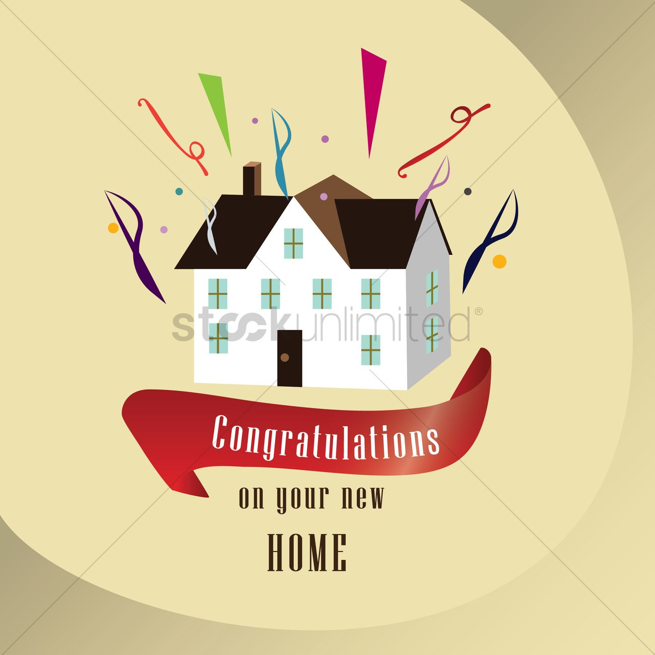 Congratulations on your new home vector image 1791404 for Designing your new home