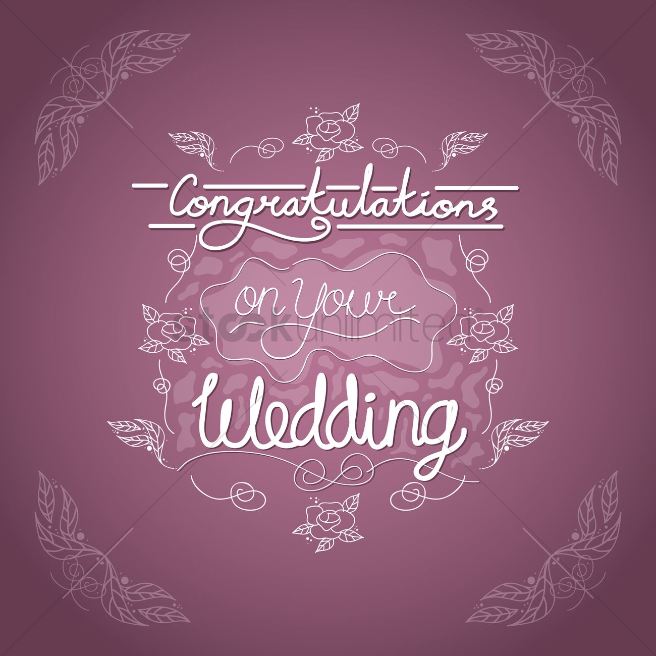 Congratulations on your wedding card Vector Image 1707652