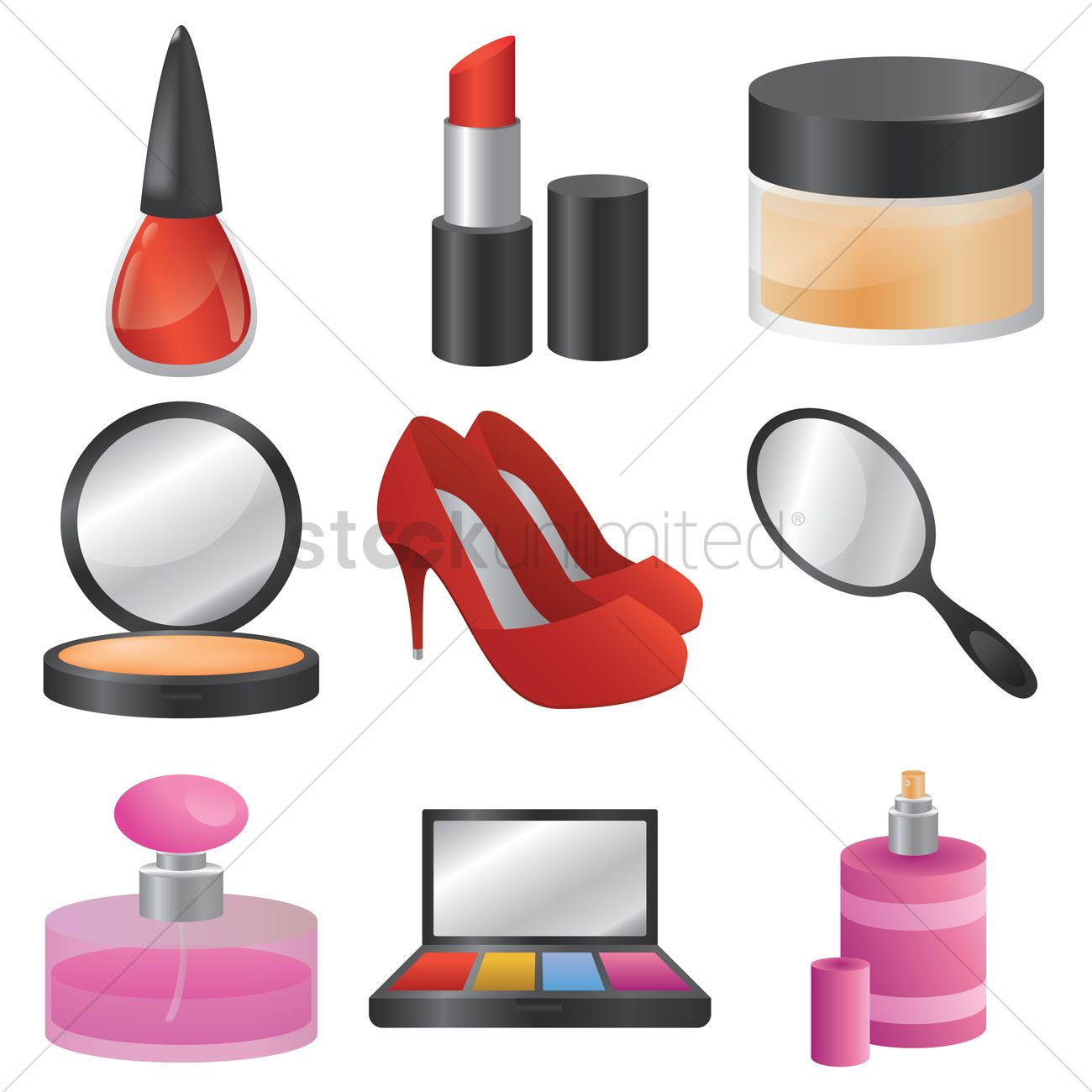 Cosmetic And Beauty Products Vector Image 1893176 Stockunlimited
