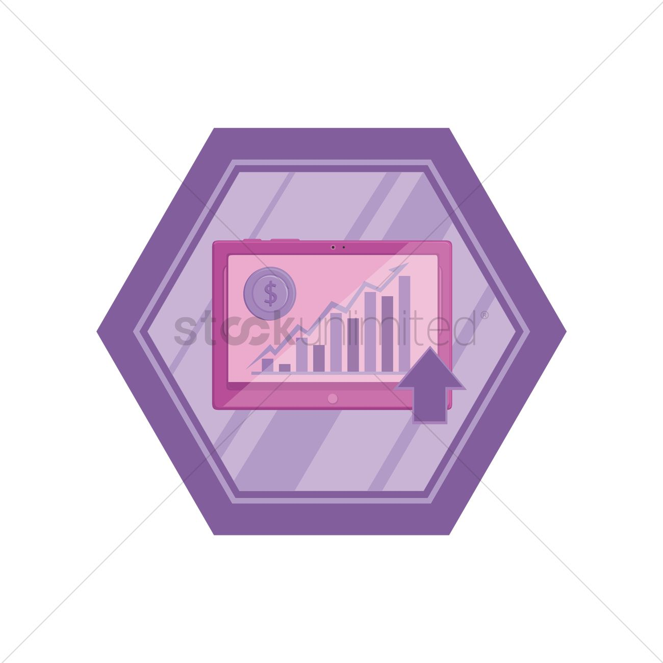 Free Currency Exchange Chart On Tablet Pc Vector Graphic