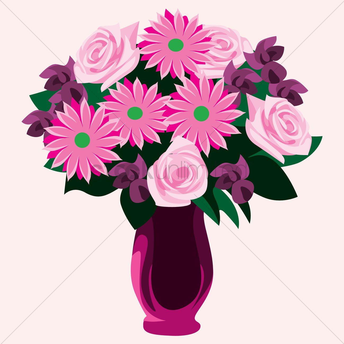 Free Dahlia and roses flowers in vase Vector Image - 1459776 ... on books vector, basket vector, art vector, box vector, decor vector, candle vector, animals vector, roses vector, floral vector, pottery vector, mirror vector, beer mug vector, teapot vector,
