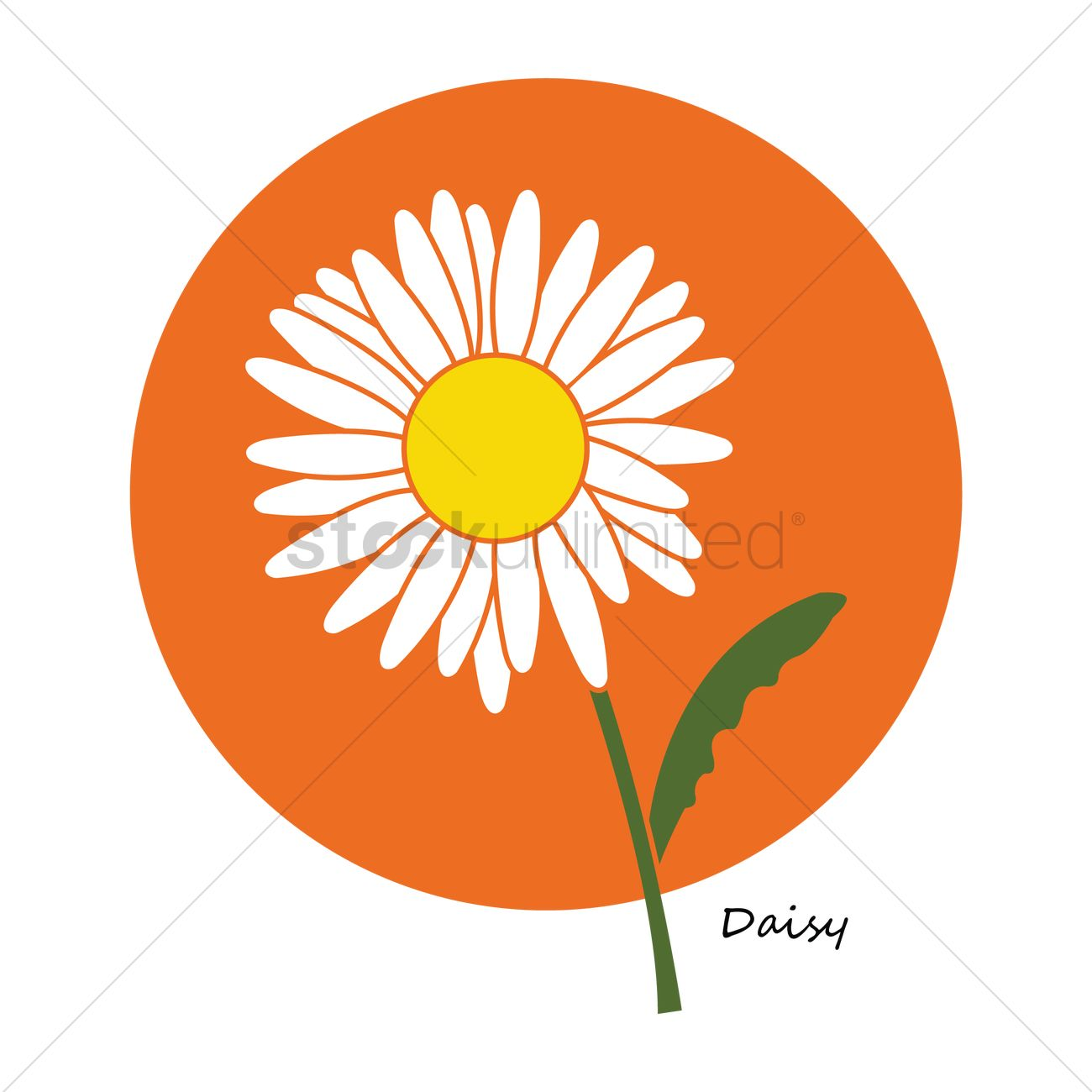Free Daisy Flower Vector Image 1332968 Stockunlimited