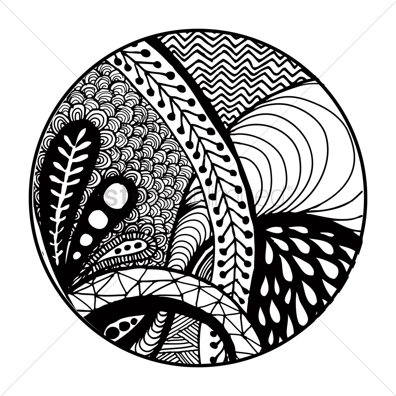 decorative pattern design vector image 1544080