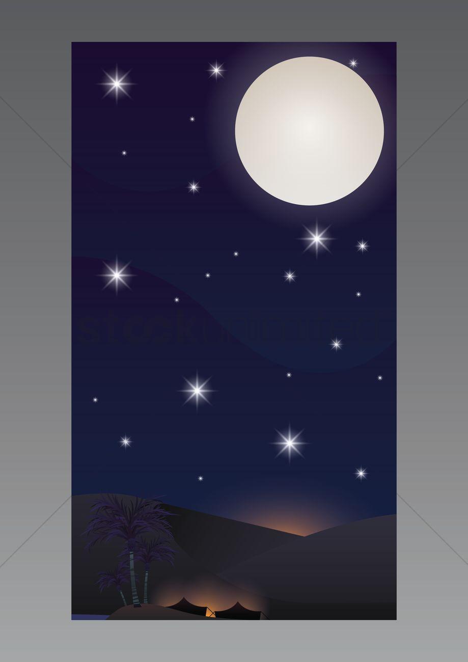 Desert Wallpaper For Mobile Phone Vector Image 1635744