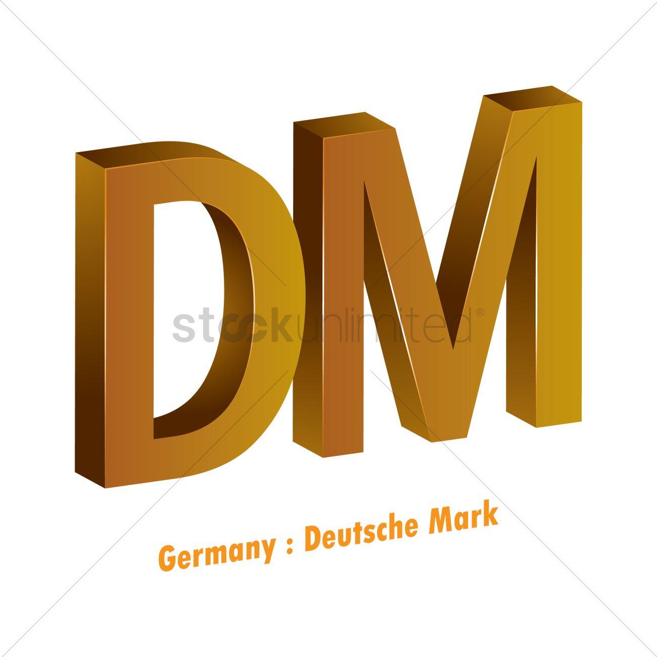 Deutsche Mark Currency Symbol Vector Image 1821608 Stockunlimited
