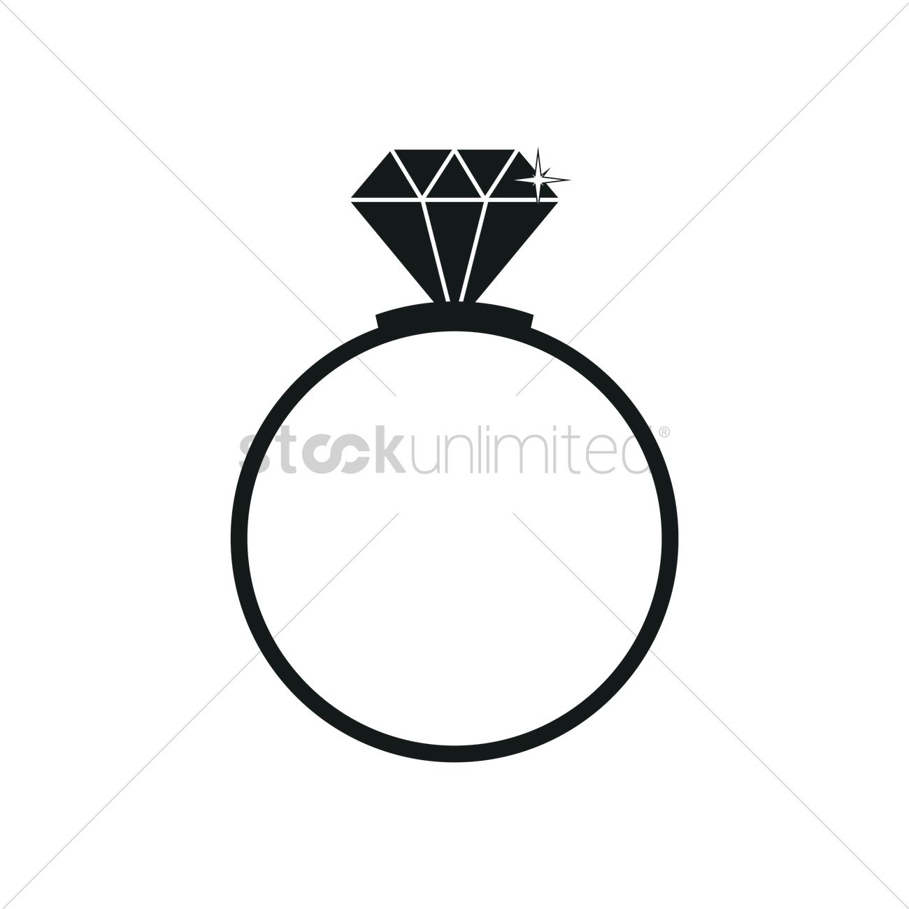 Diamond ring silhouette Vector Image 1900596 StockUnlimited