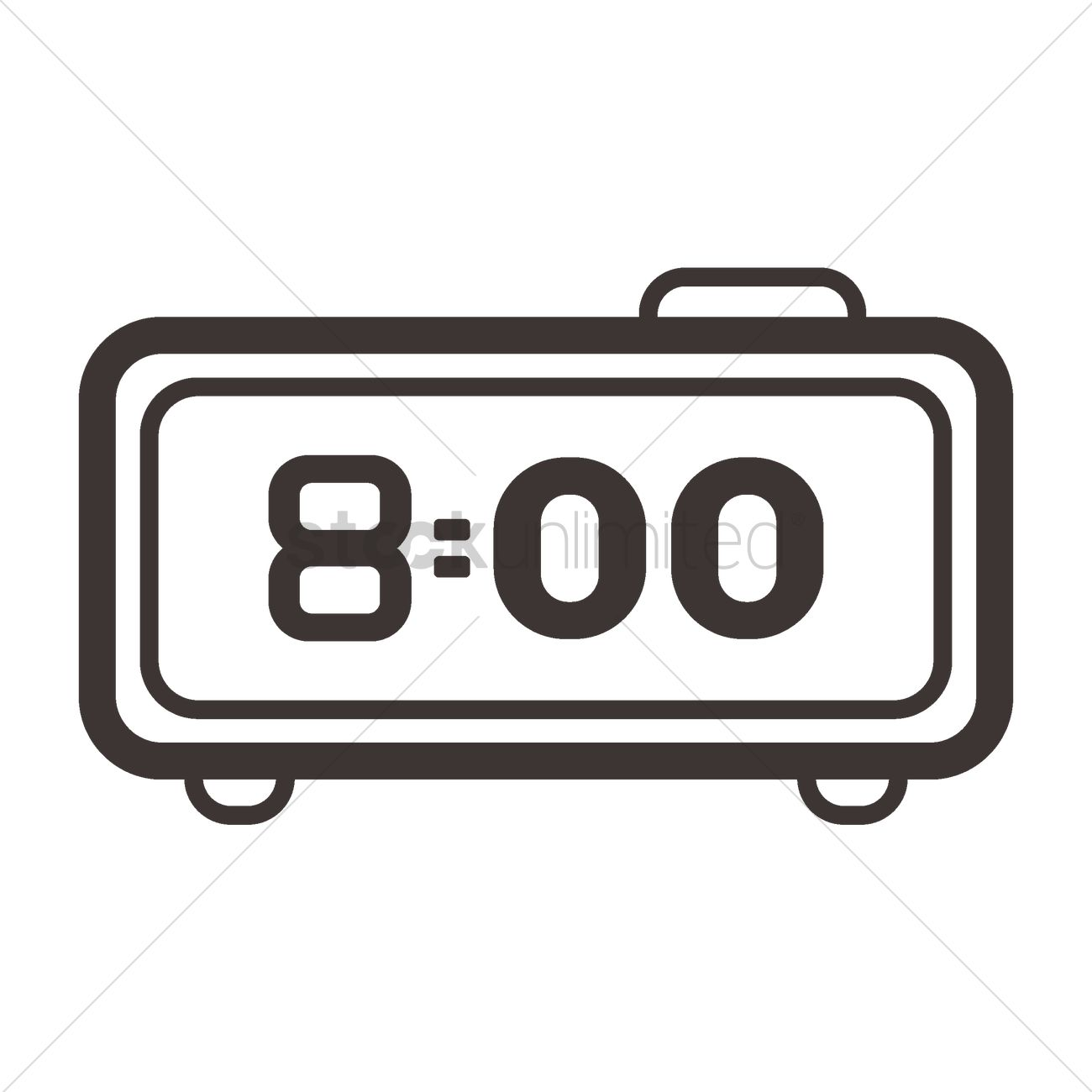 digital alarm clock vector image 2006772 stockunlimited rh stockunlimited com