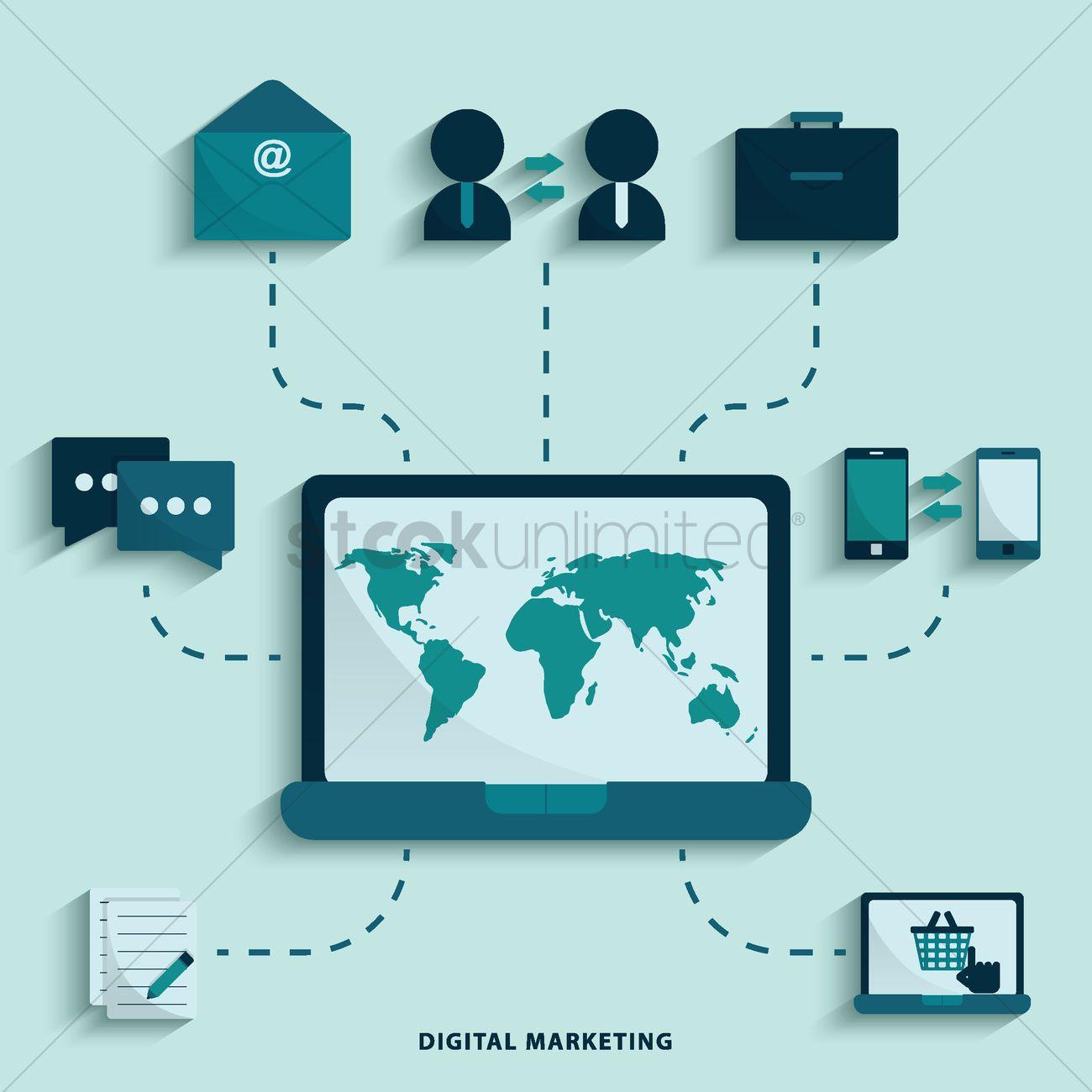 digital marketing vector image 1517540 stockunlimited digital marketing vector image