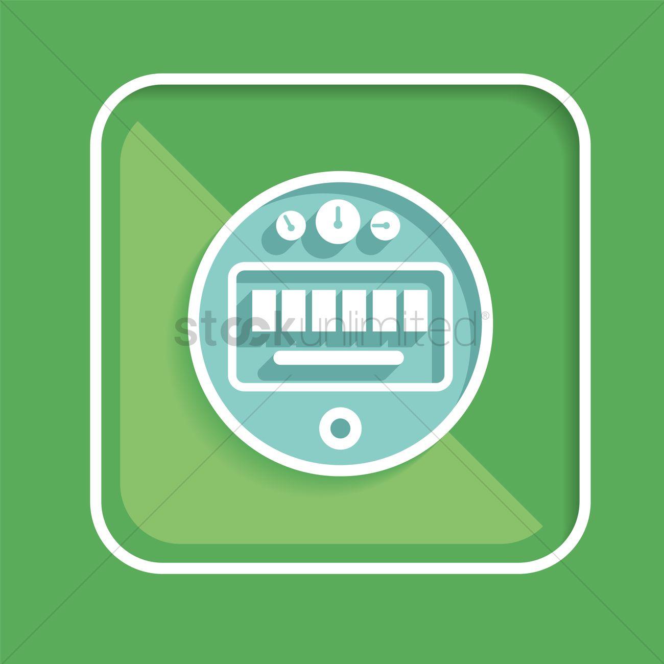 Free Digital meter reading Vector Image - 1390300 | StockUnlimited