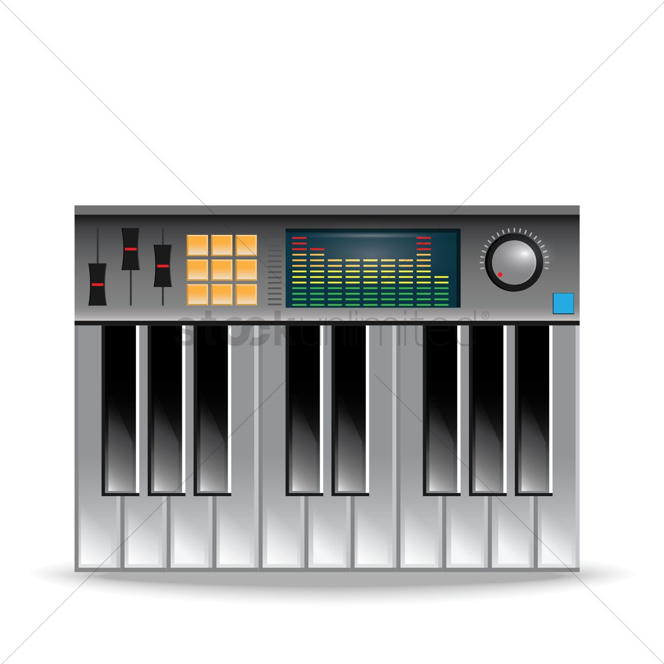 Digital Piano Vector Graphic