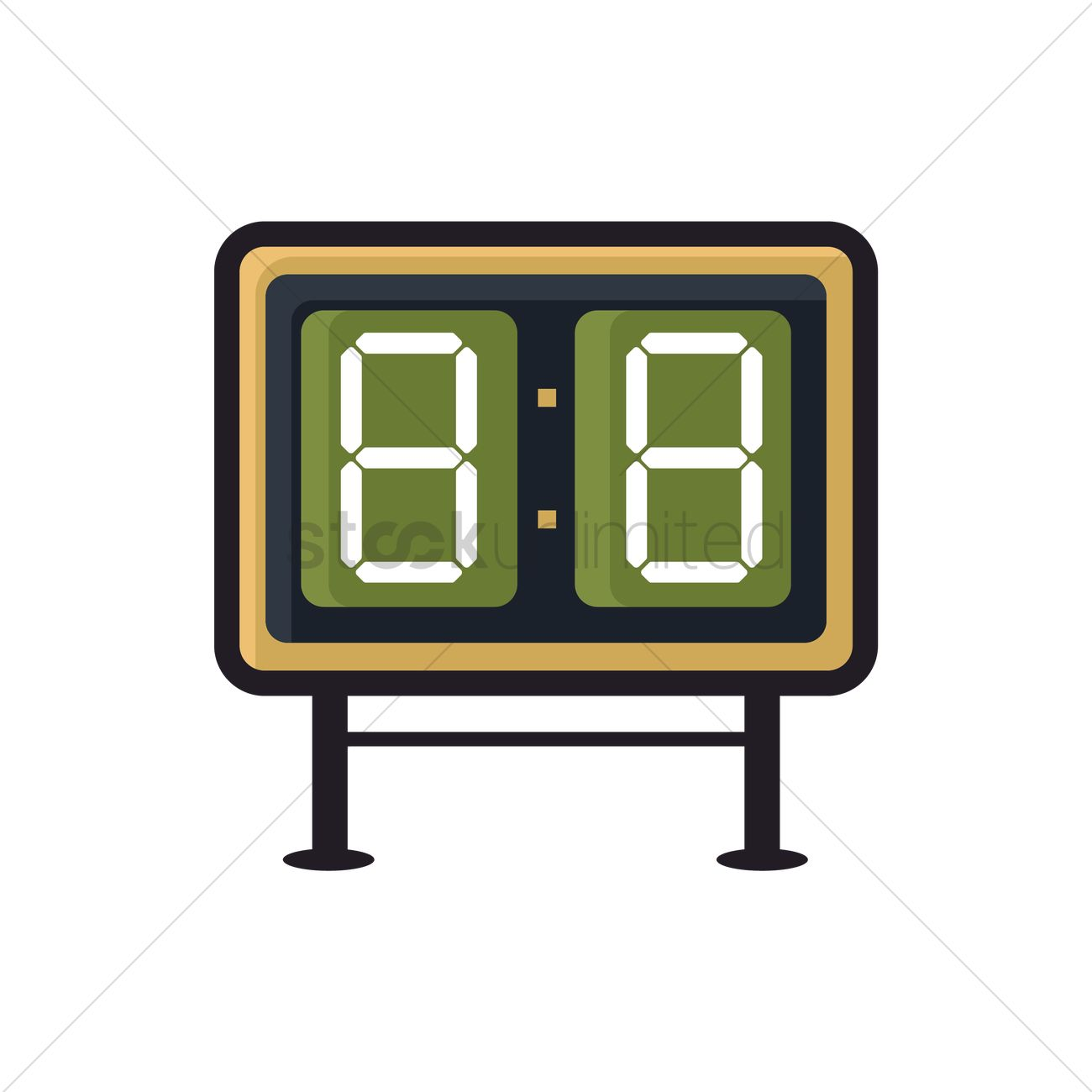 digital scoreboard vector image 1992144 stockunlimited rh stockunlimited com scorecard clip art scores clipart