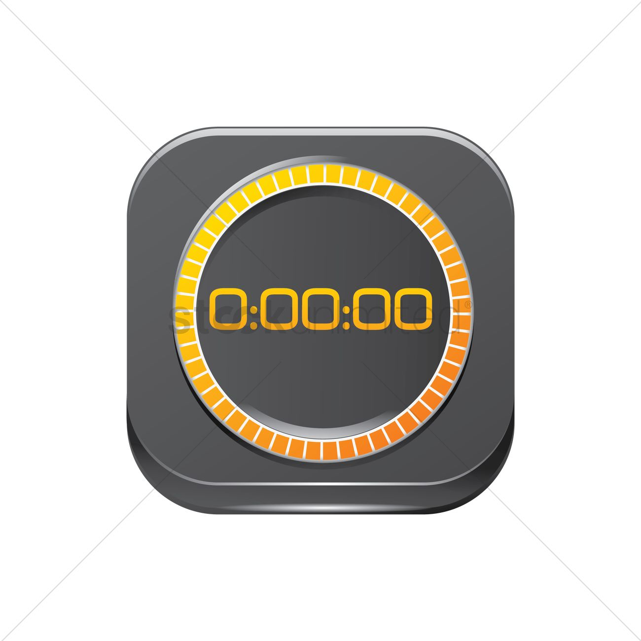 Digital timer icon Vector Image - 1617200 | StockUnlimited