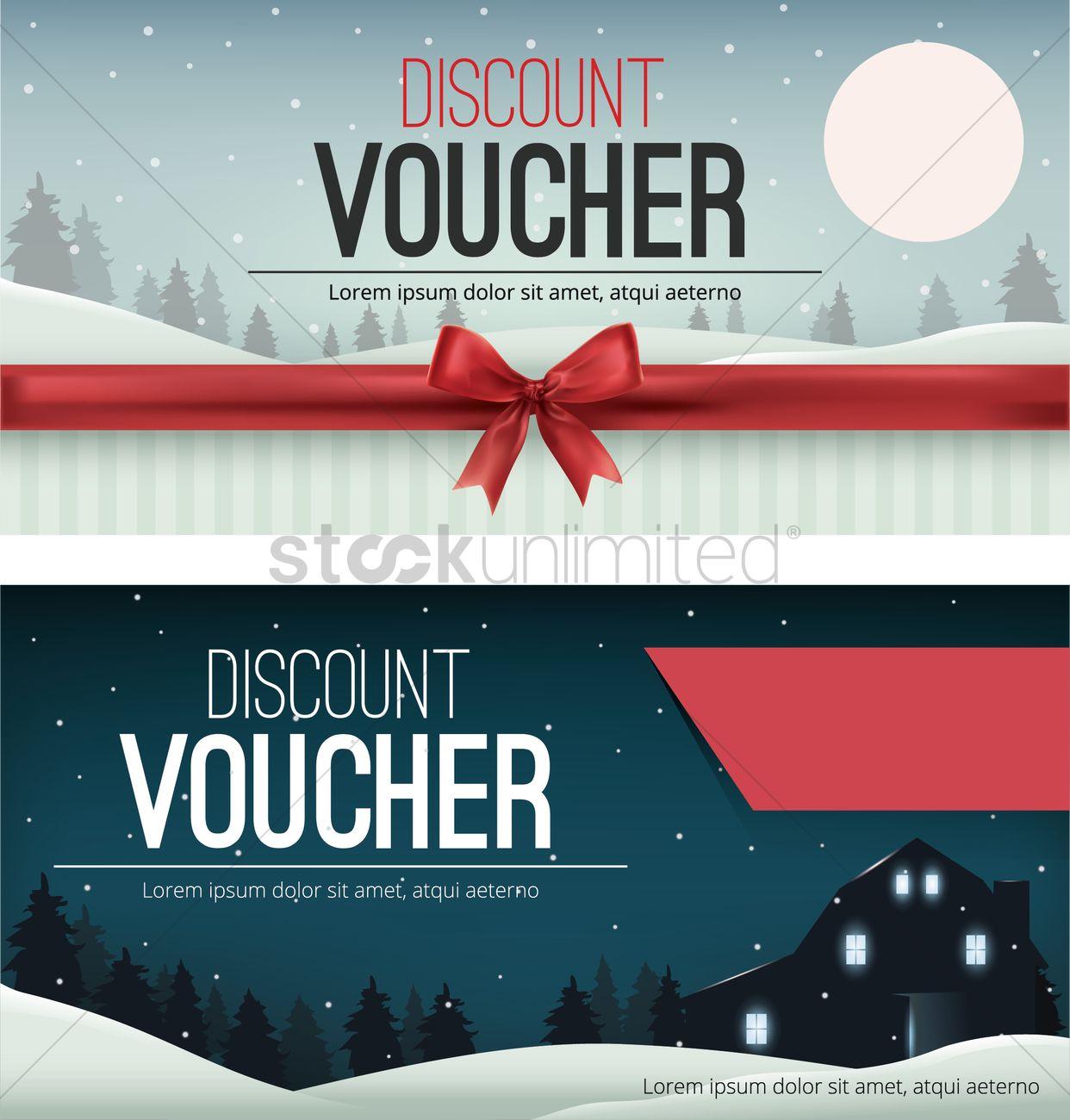 Discount Voucher Design Vector Graphic  Discount Voucher Design