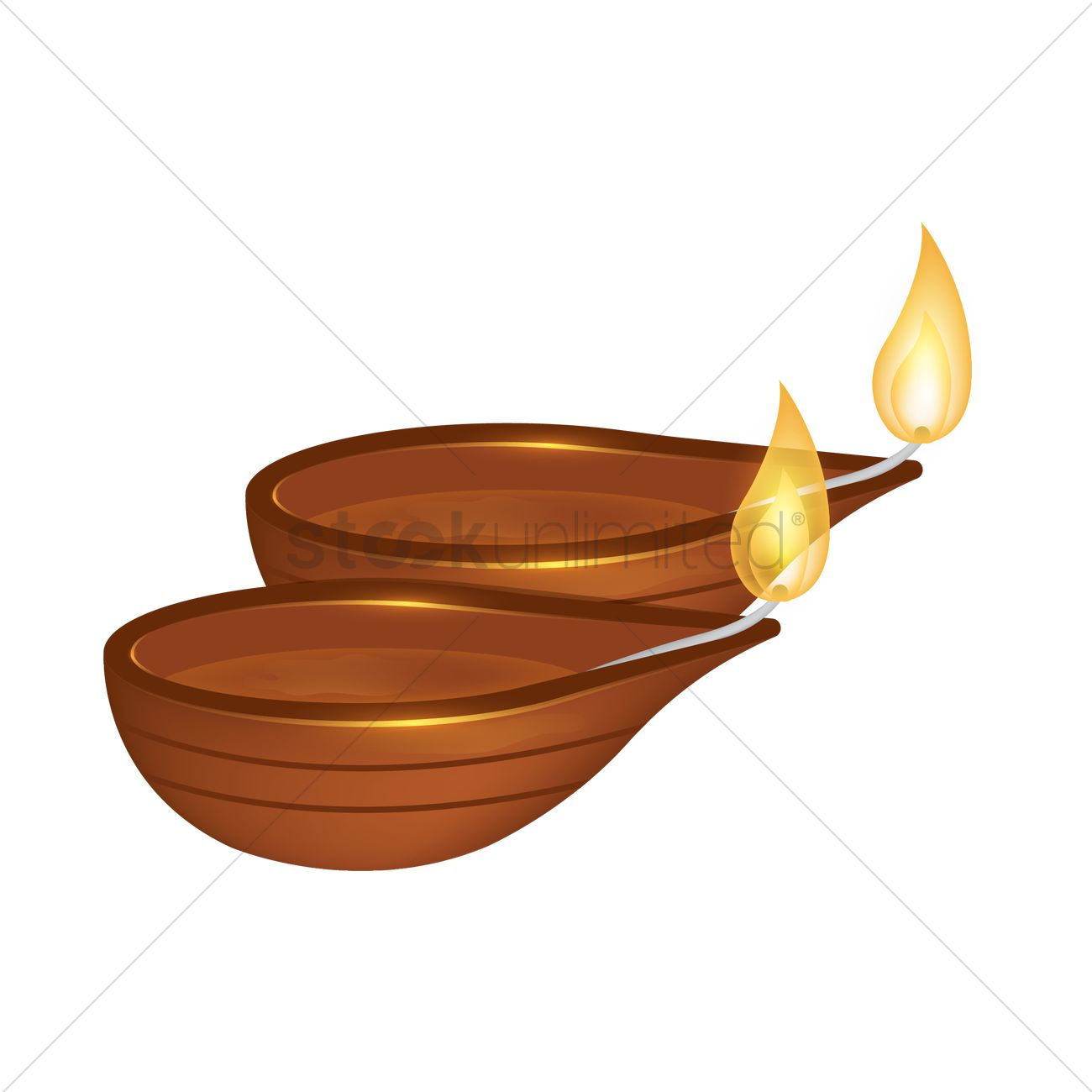 Diwali Lamps Vector Graphic