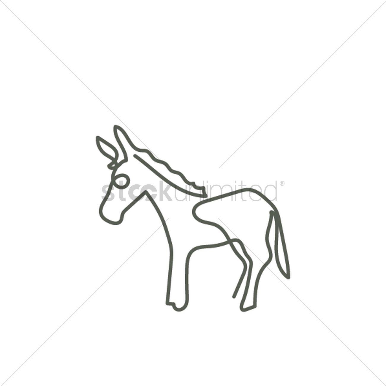donkey vector image 2032036 stockunlimited Baby Mammoth Donkeys donkey vector graphic