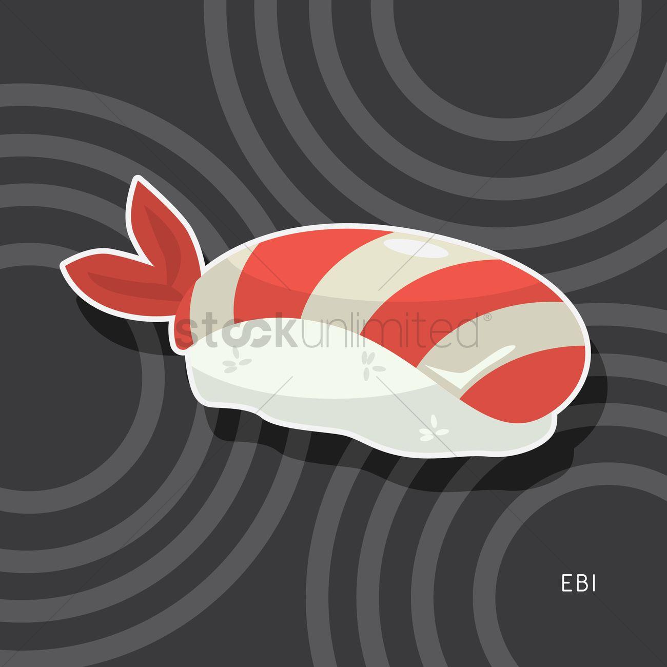Free Ebi Sushi Vector Image 1593120 Stockunlimited