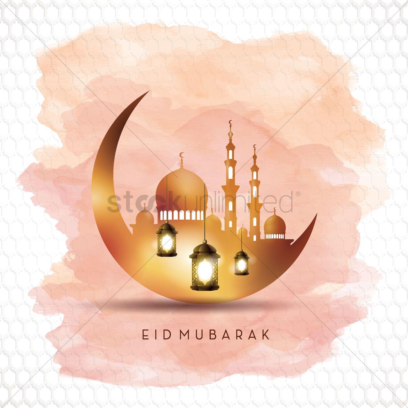 Eid mubarak greeting vector image 1828228 stockunlimited eid mubarak greeting vector graphic m4hsunfo