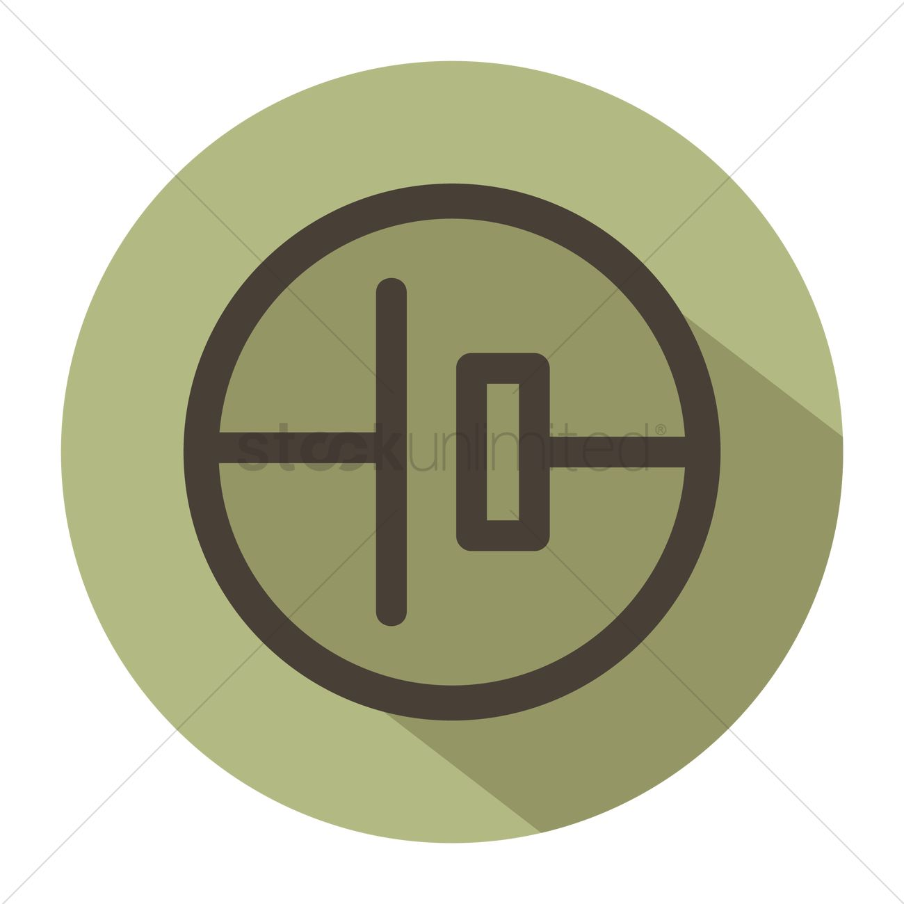 Free Electric Circuit Symbol For Single Cell Vector Image 1248240