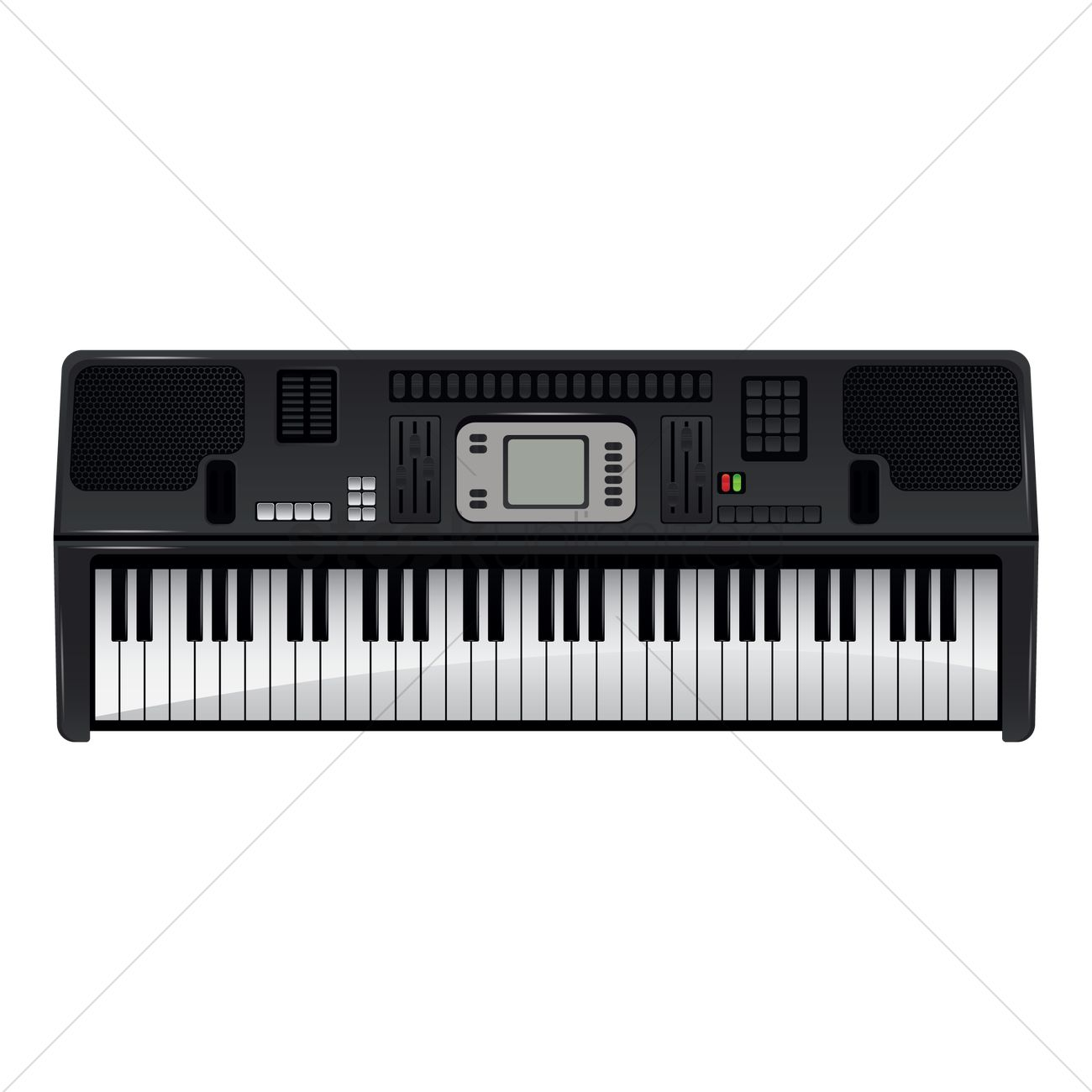 Electric Keyboard Vector Graphic