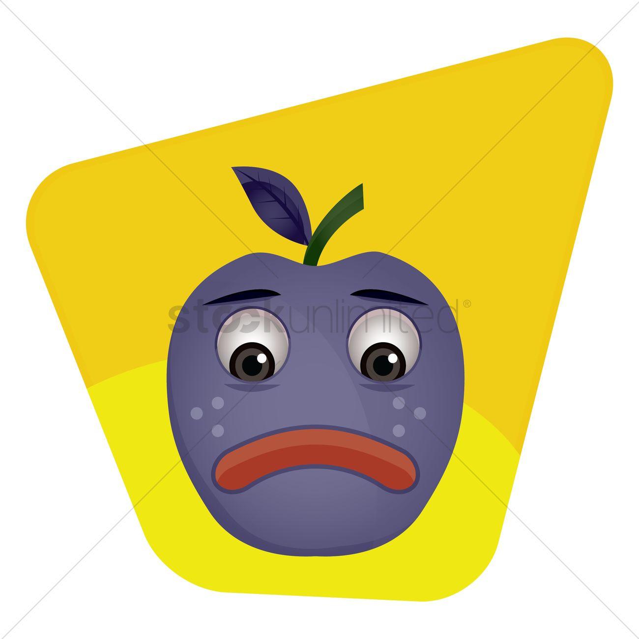 Emoticon Upset Vector Image 1396192 Stockunlimited
