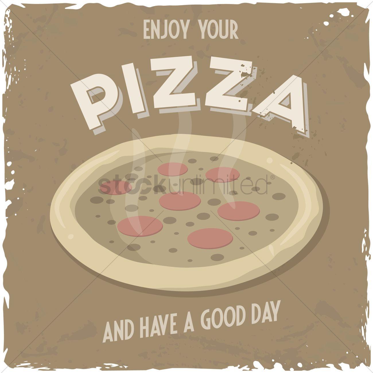 enjoy your pizza background vector image 1571652 stockunlimited. Black Bedroom Furniture Sets. Home Design Ideas