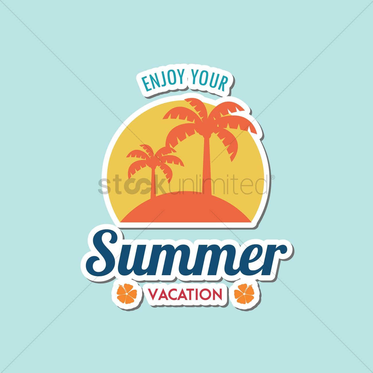 Enjoy Your Summer Vacation Vector Graphic