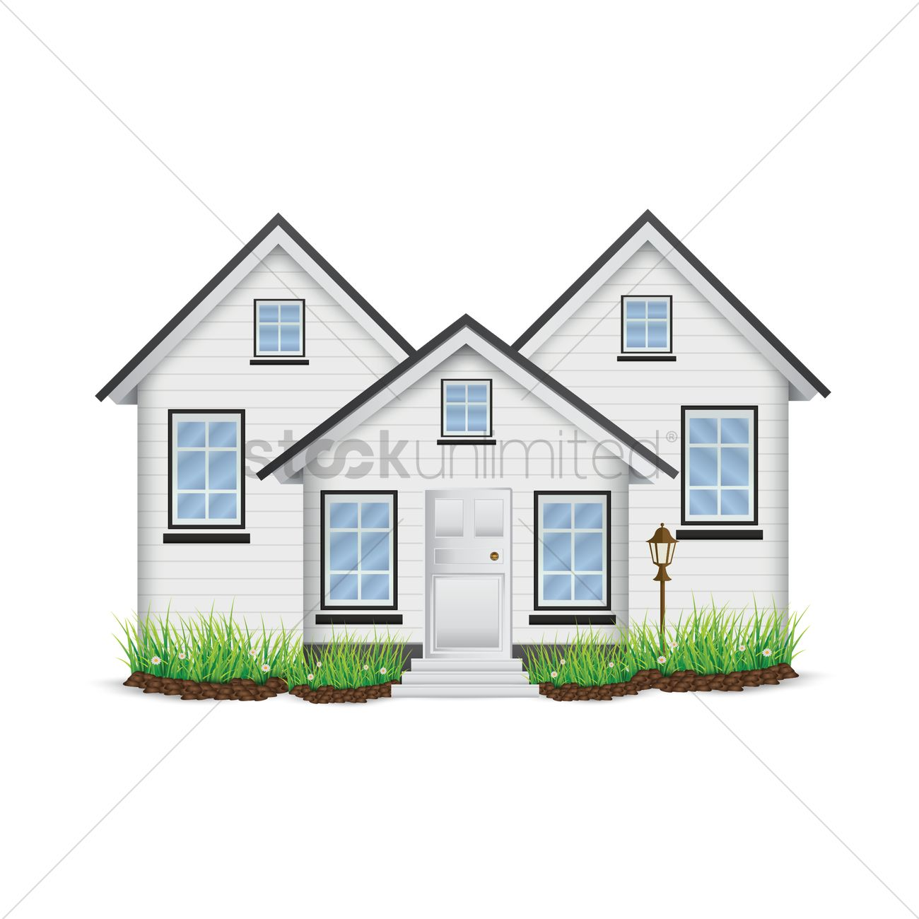 Fancy house vector graphic