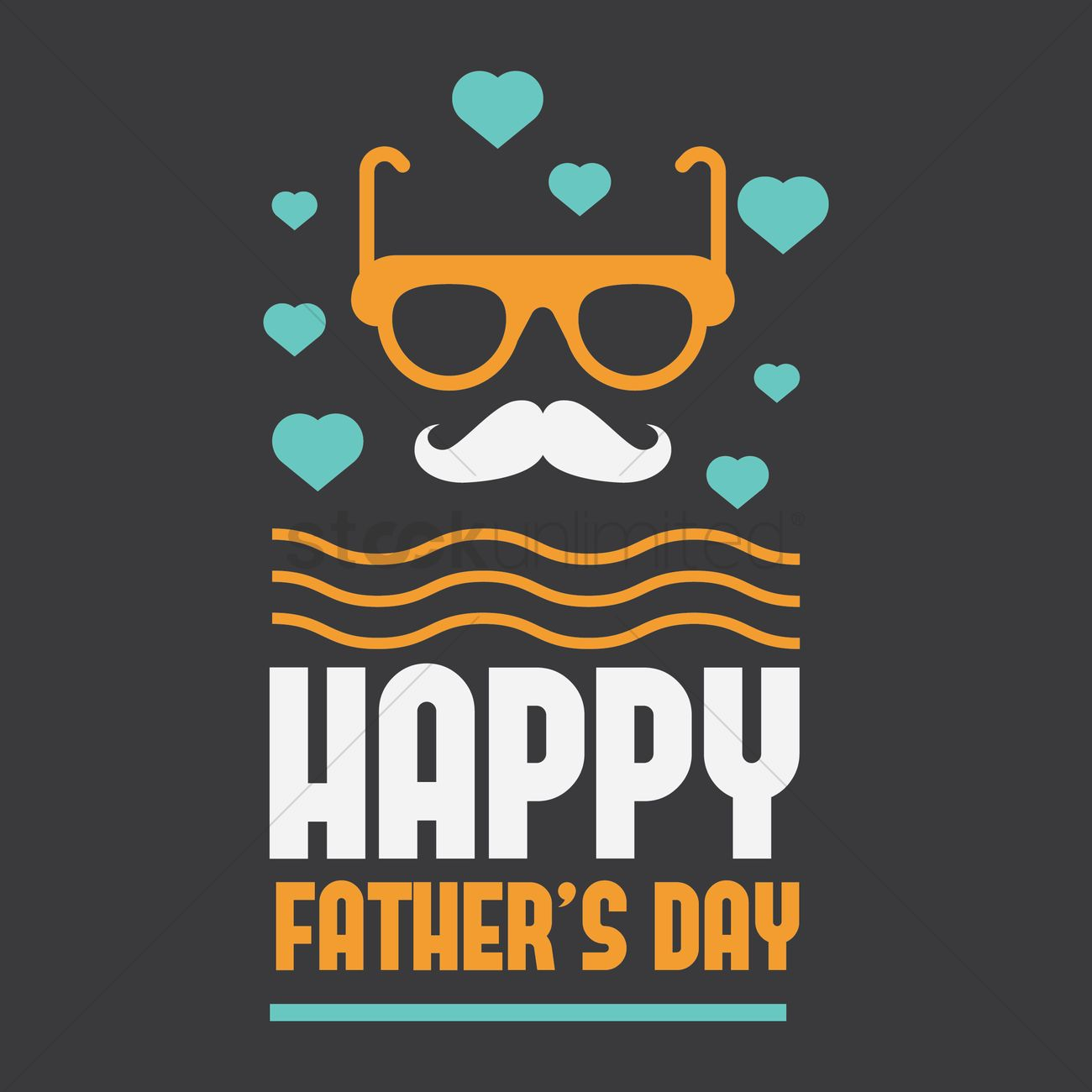 Free Fathers Day Greeting Card Vector Image 1539828 Stockunlimited