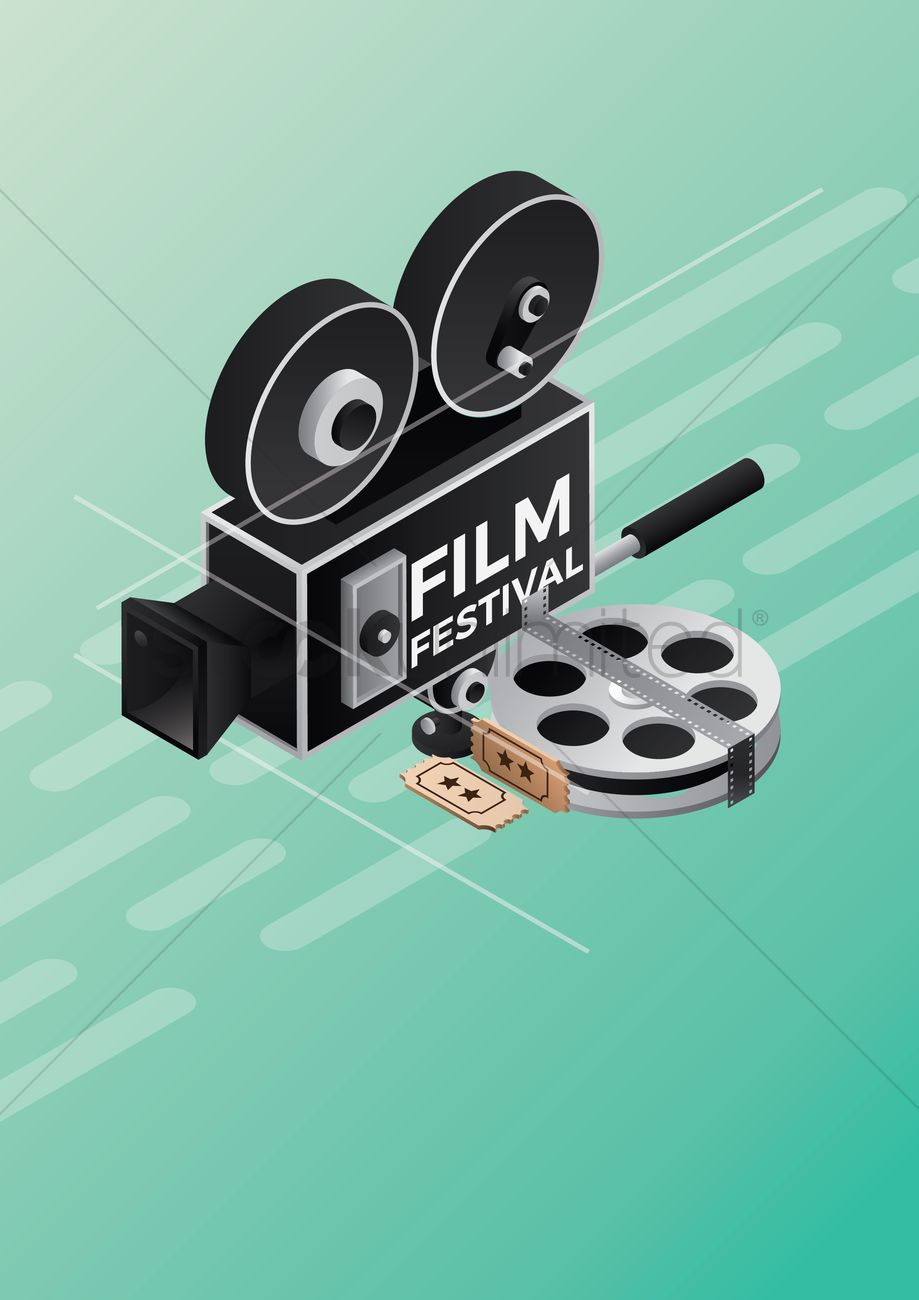 Film Festival Poster Design Vector Graphic