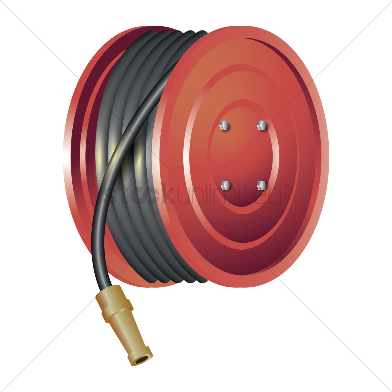 fire hose reel vector image 1806588 stockunlimited rh stockunlimited com fire house clipart fire hose clipart free