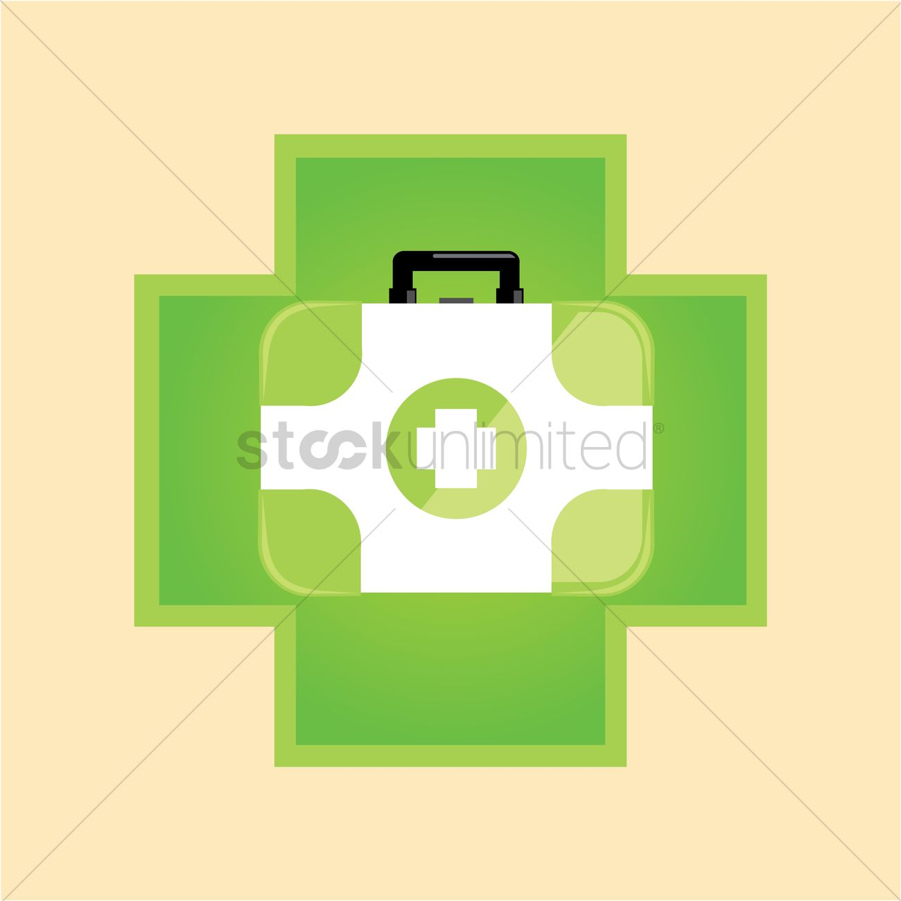 Free First aid kit on a cross Vector Image - 1239680 | StockUnlimited