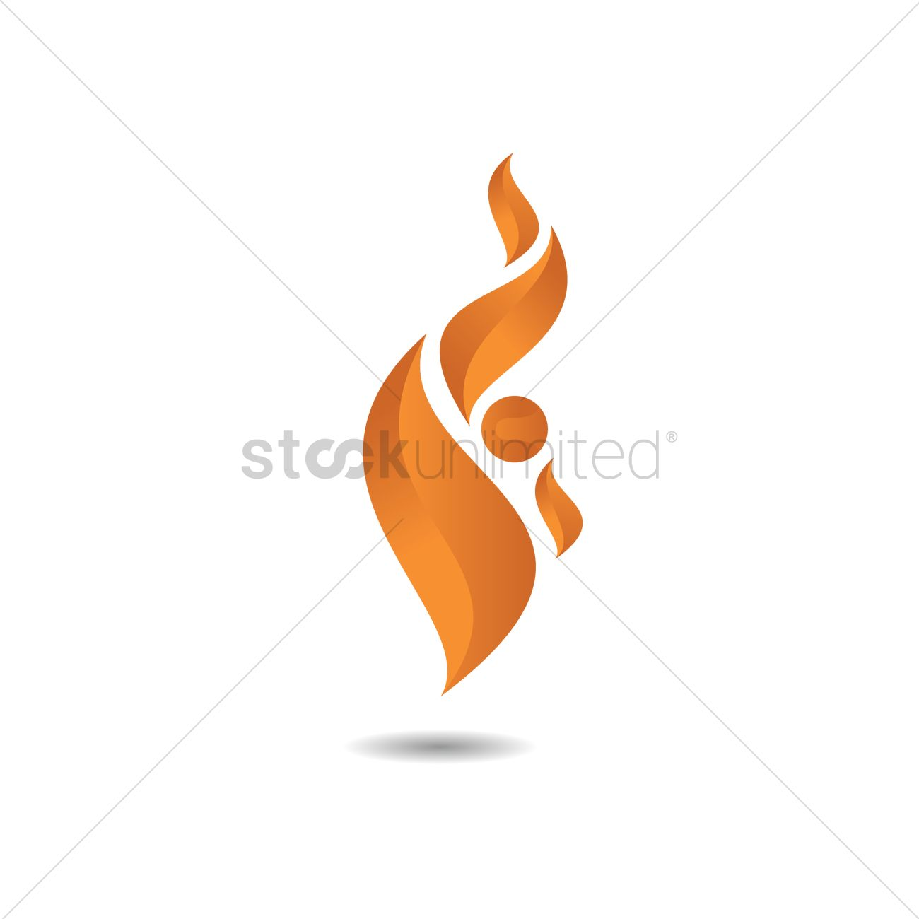flame logo design vector image 1477172 stockunlimited