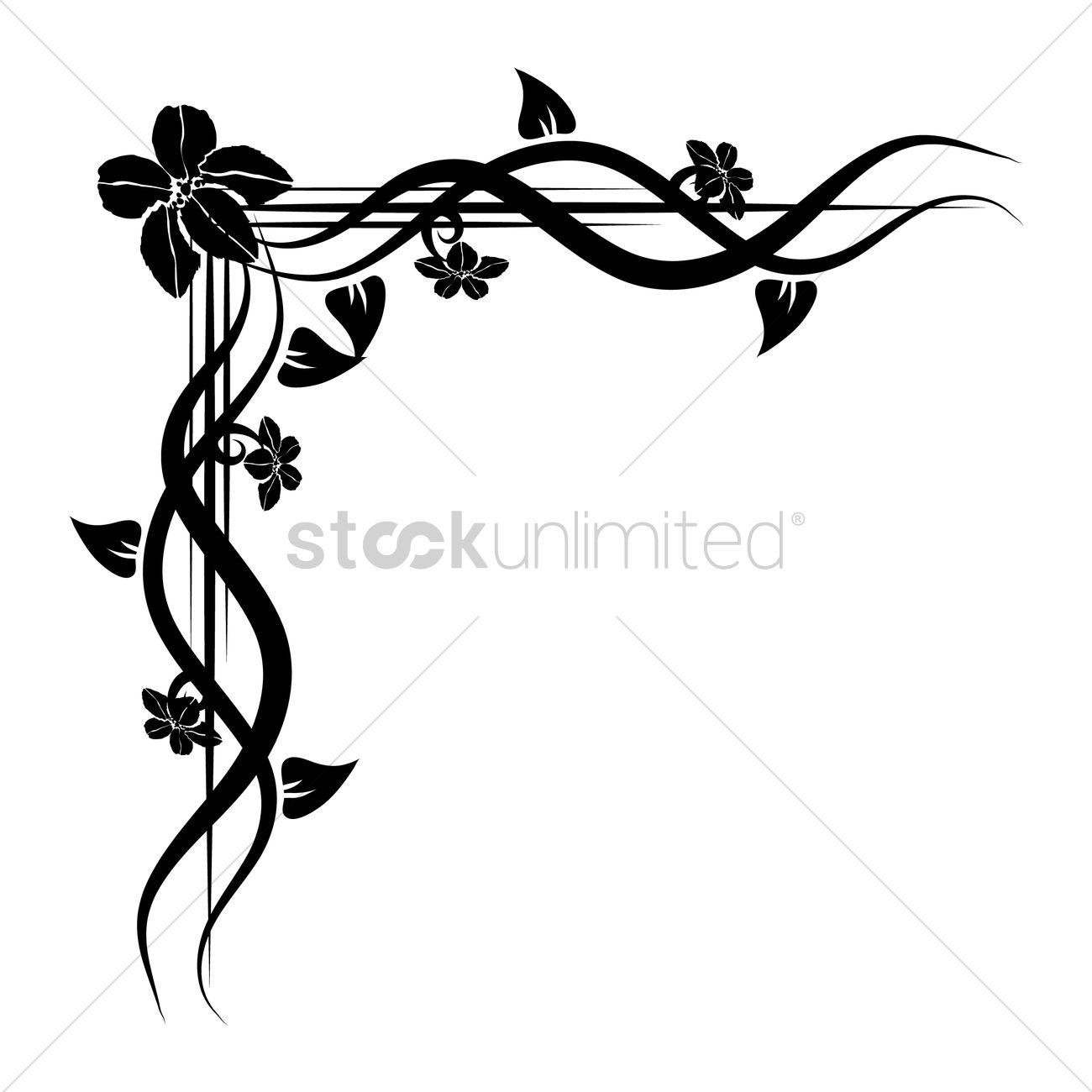 floral corner design vector image 1626888 stockunlimited floral corner design vector image