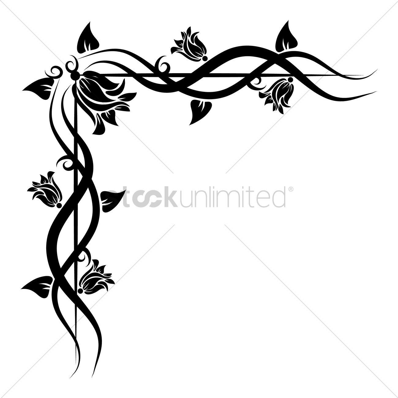 Floral corner design Vector Image - 1627032 | StockUnlimited