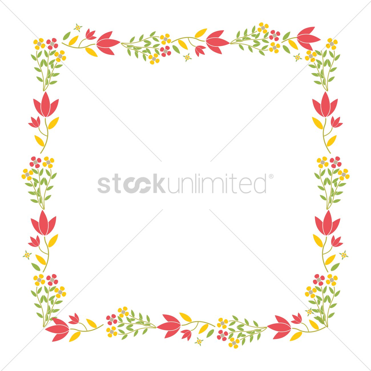 Flower border design Vector Image - 1968692 | StockUnlimited