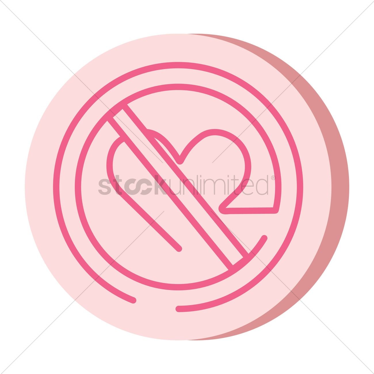 Forbidden Love Symbol Vector Image 2019932 Stockunlimited