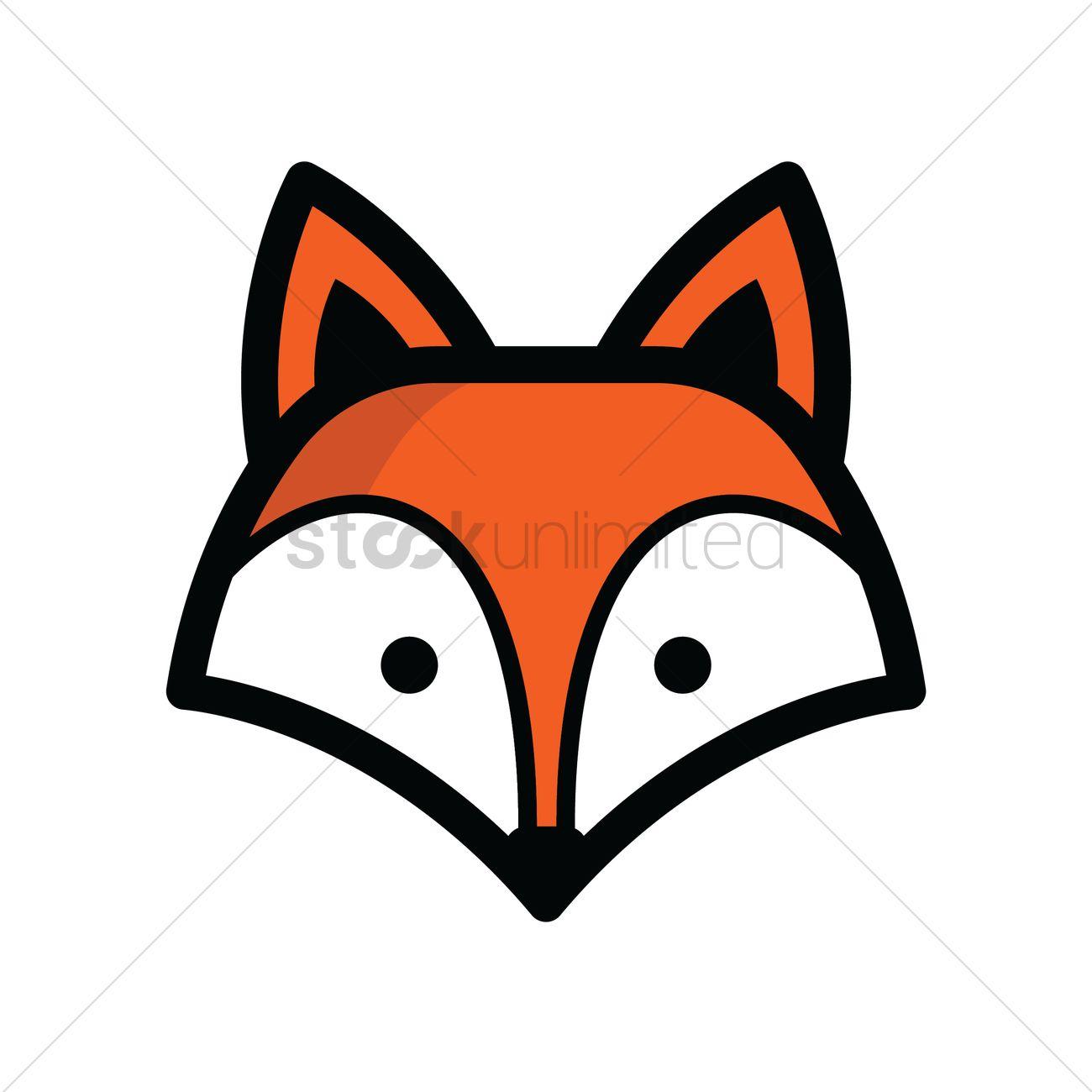 Fox Head Vector Image 1821324 Stockunlimited