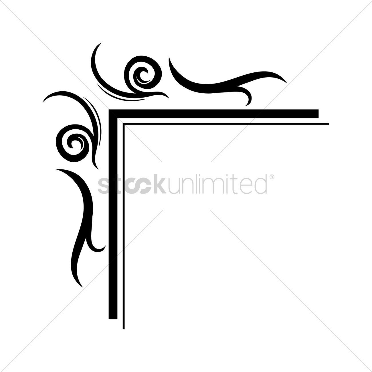 Frame corner design Vector Image - 1627212 | StockUnlimited