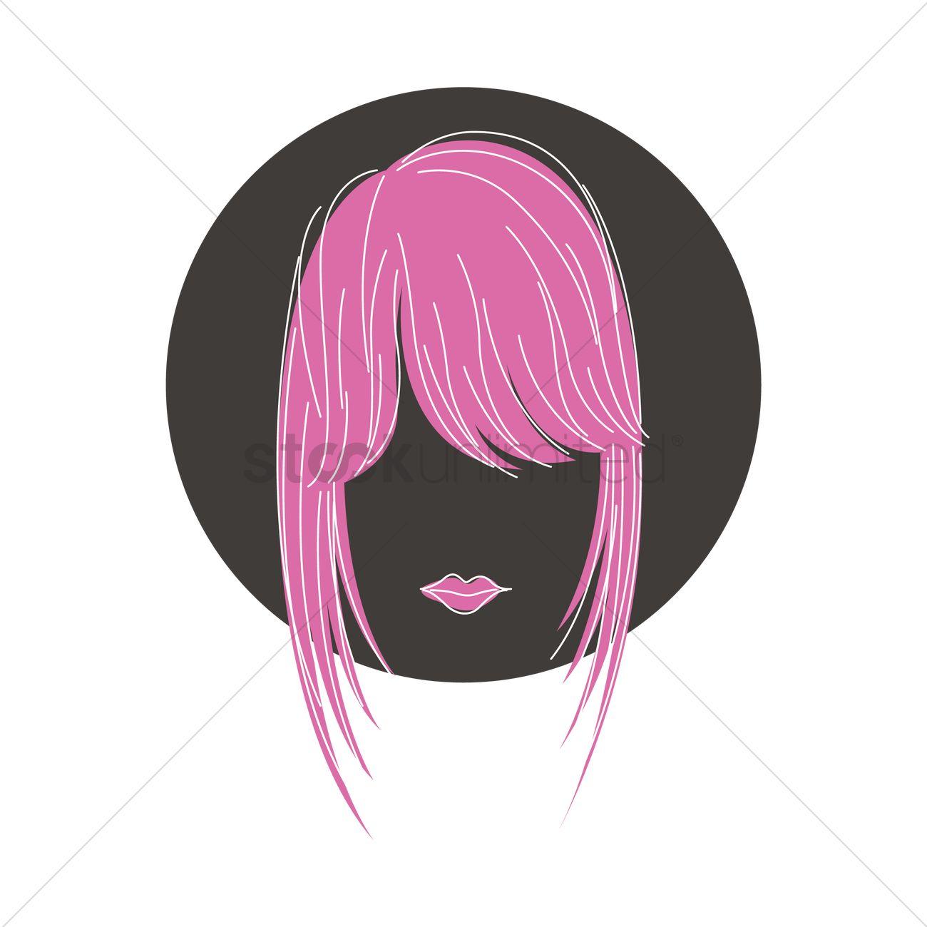 Fringe Hairstyle Vector Image 1373312 Stockunlimited