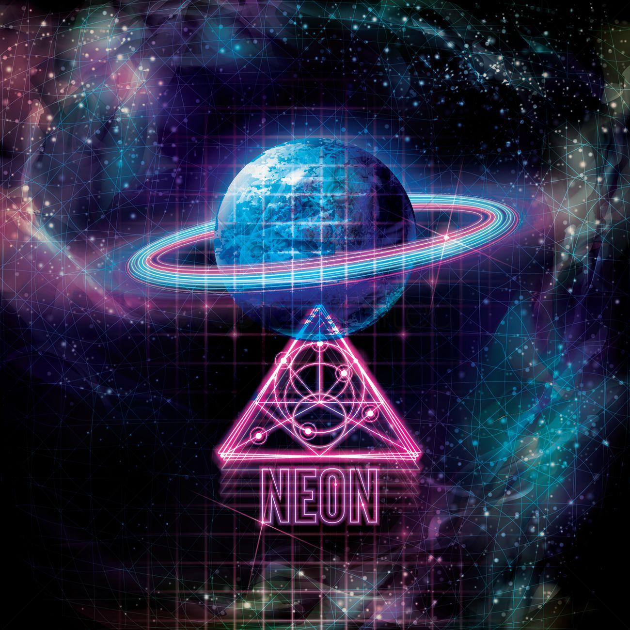 Galactic Neon Design Vector Image 1962548 Stockunlimited