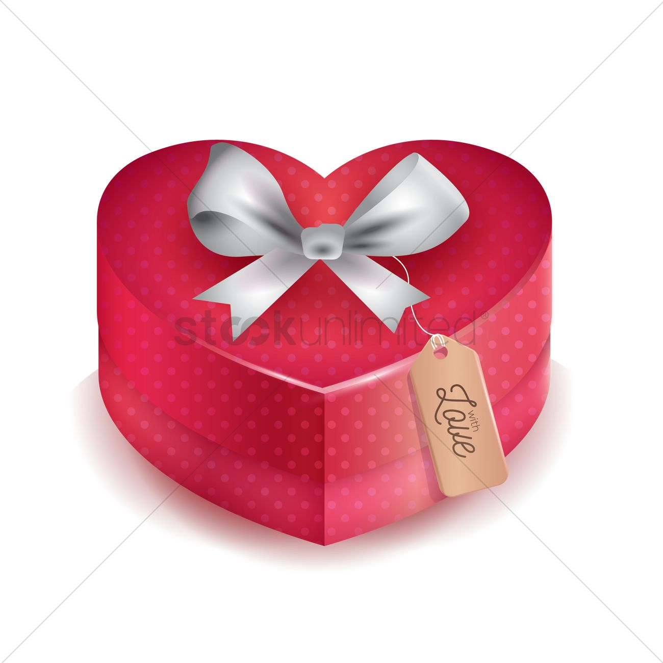 Gift Box With Ribbon Vector Image 1935480 Stockunlimited