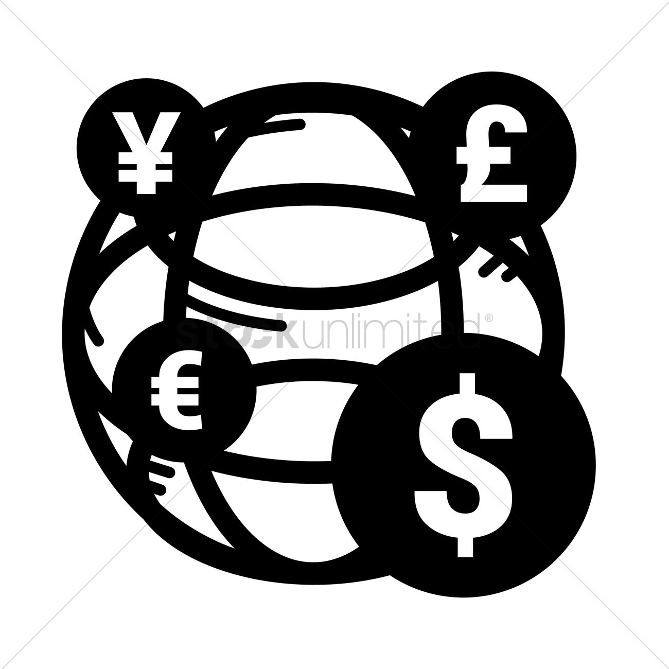 Global Currency Symbols Vector Image 1647328 Stockunlimited