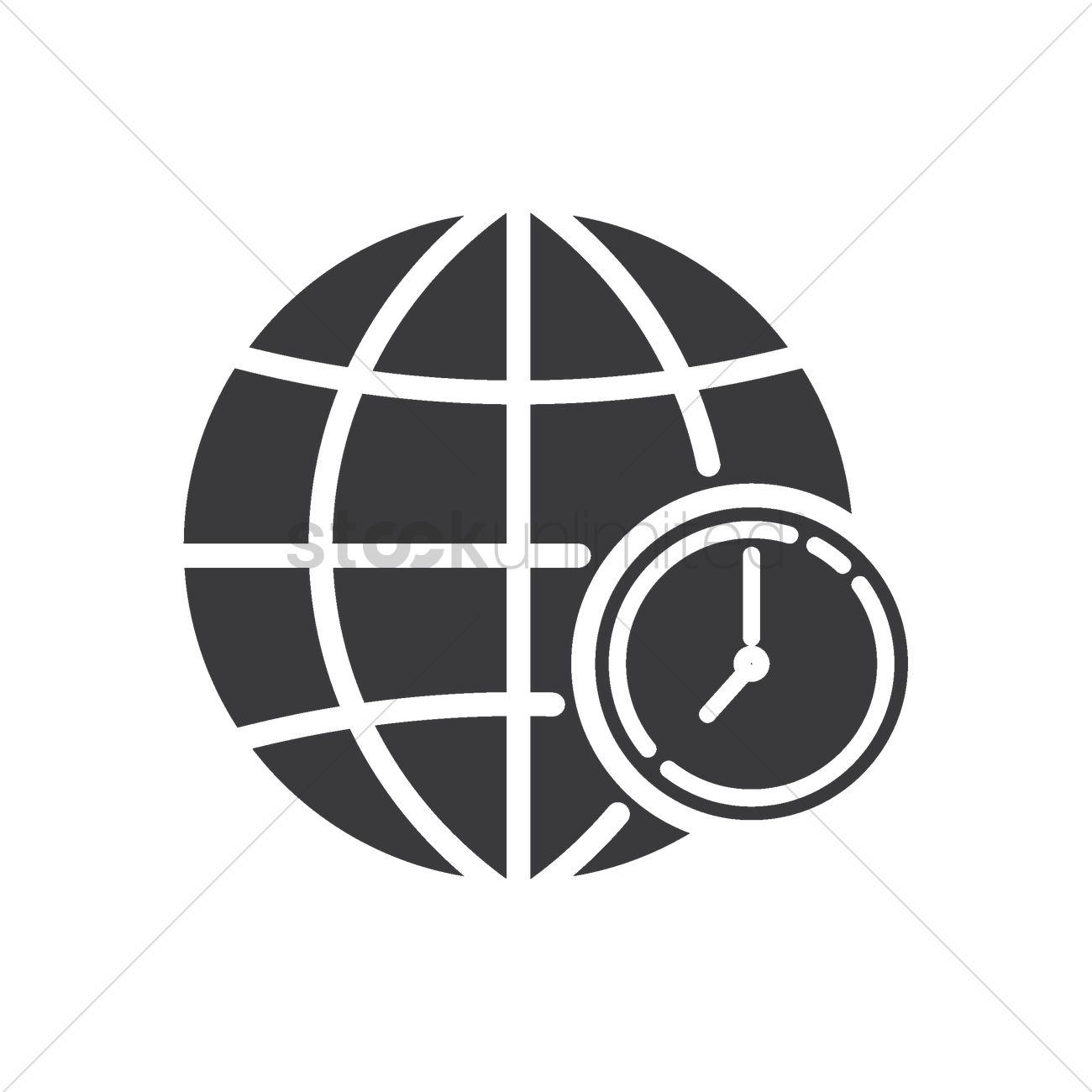 Globe with timezone concept icon Vector Image - 2005020 | StockUnlimited