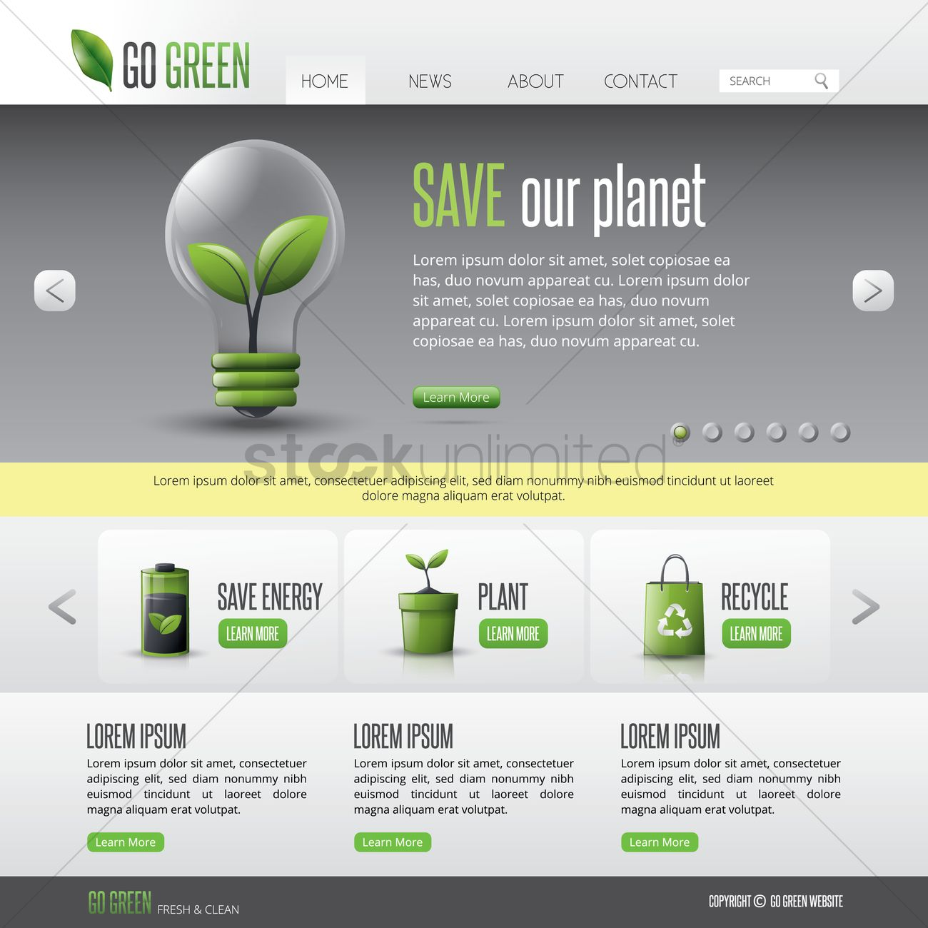 Green Web Page