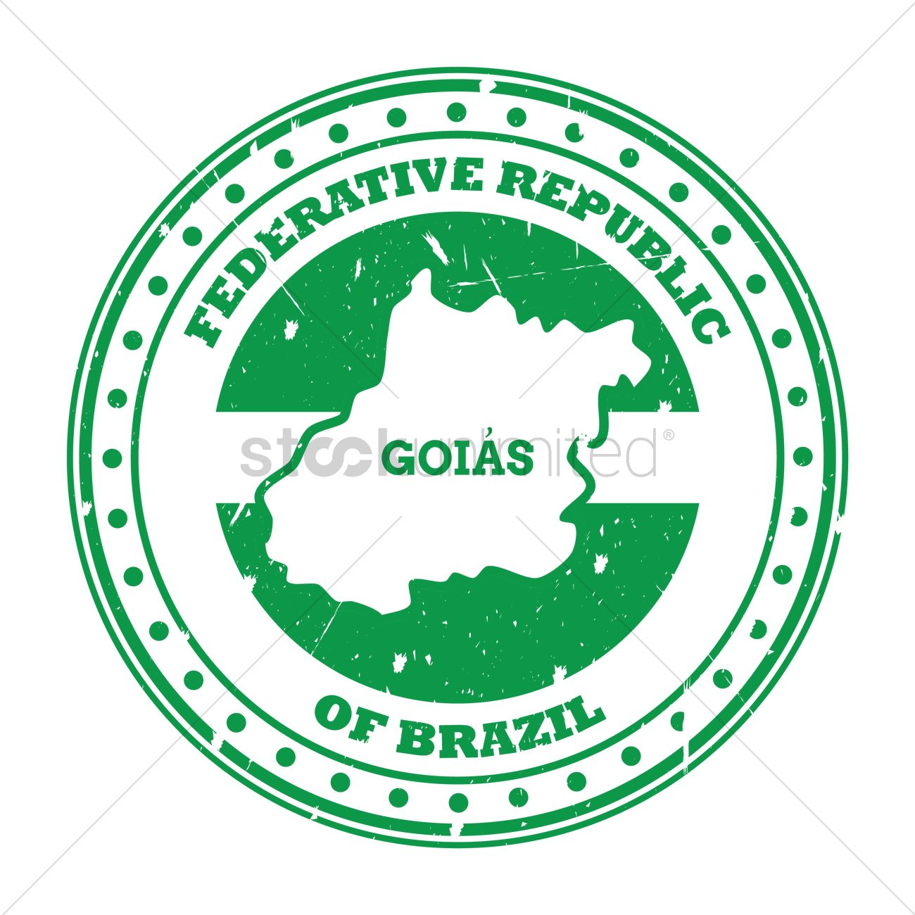 Goias map stamp Vector Image - 1580380   StockUnlimited